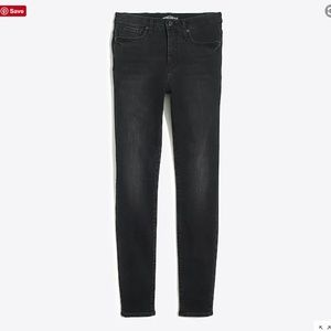 "10"" high-rise black skinny jean in Allenham wash"